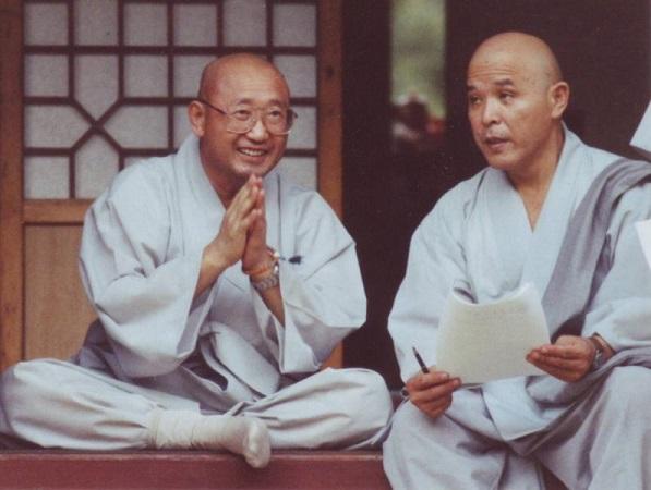זן מאסטר סו בונג עם זן מאסטר סונג סאן
