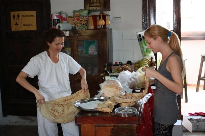 הכנת אוכל בסדנת זן
